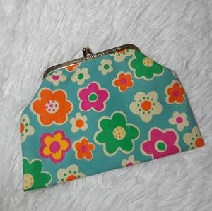 Vintage Fabric Floral Pattern Coin Purse